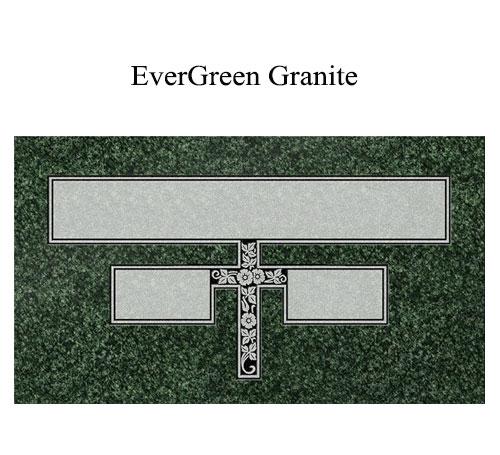 evergreen granite flat marker