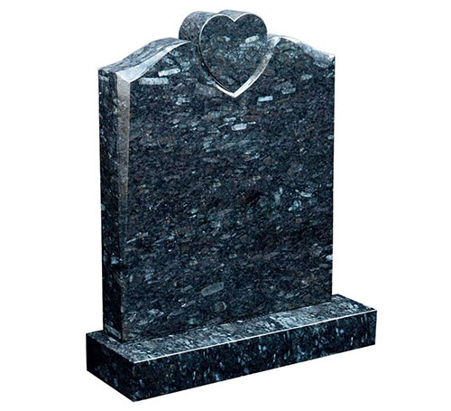 Emerald Pearl Serp with Heart Headstone