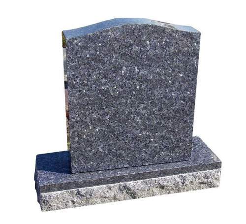 Blue Pearl Serpentine Headstone