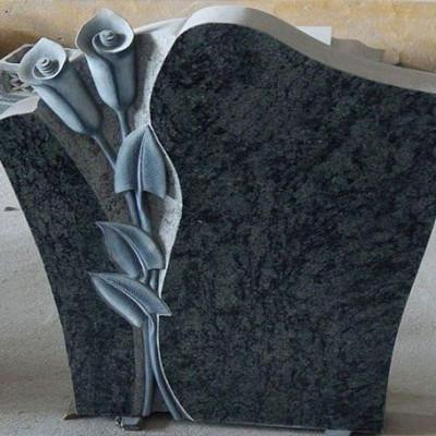 Calla Lily Carved Headstone