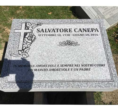 grey granite marker