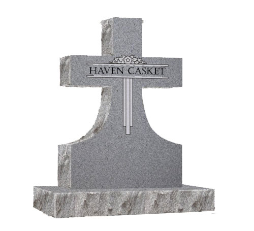 grey cross headstone
