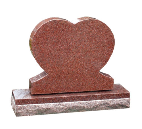 Heart India red headstone