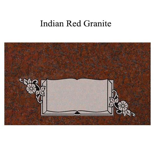 indian red granite flat marker