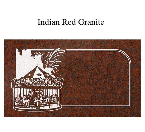 indian red granite flat marker Ferris wheel