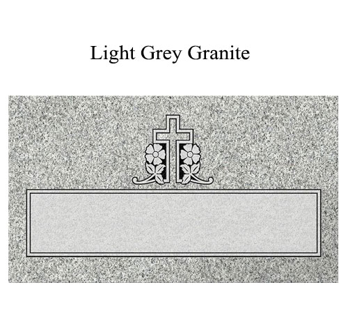 light grey flat marker holy cross
