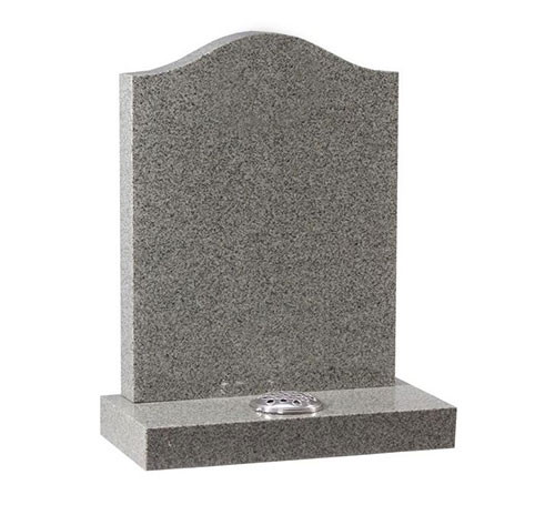 grey serpentine headstone