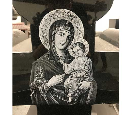 Mary Laser Etching