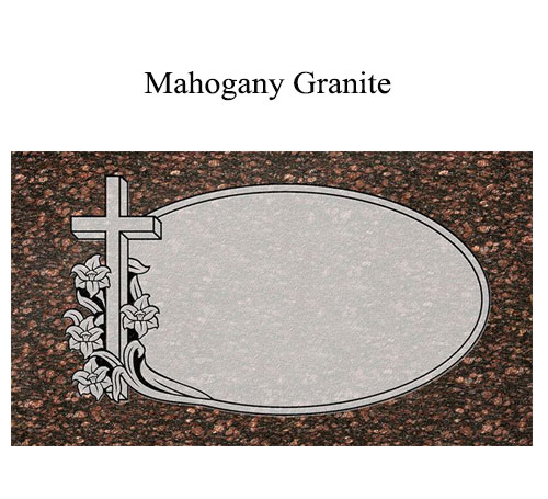 mahogany granite flat marker