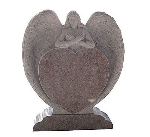 Heart Headstone in Mahogany
