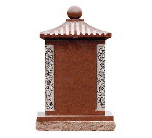 standard oriental red headstone