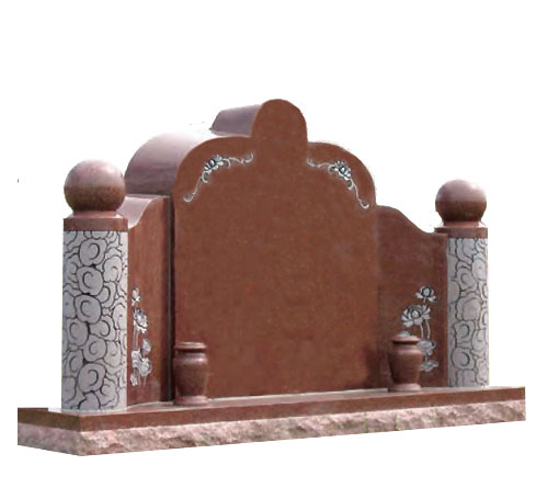oriental red double headstone