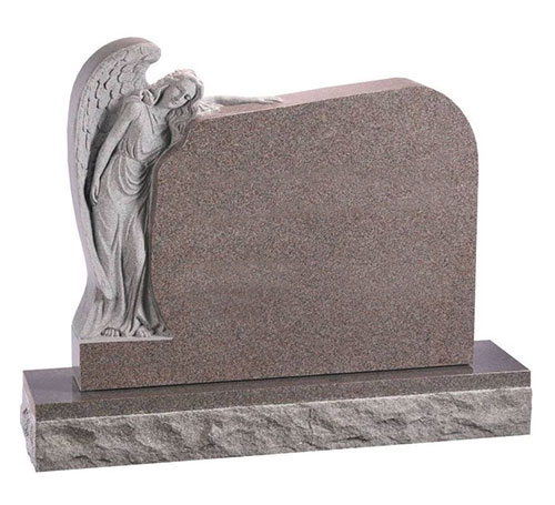 Angel Headstone Pink Granite
