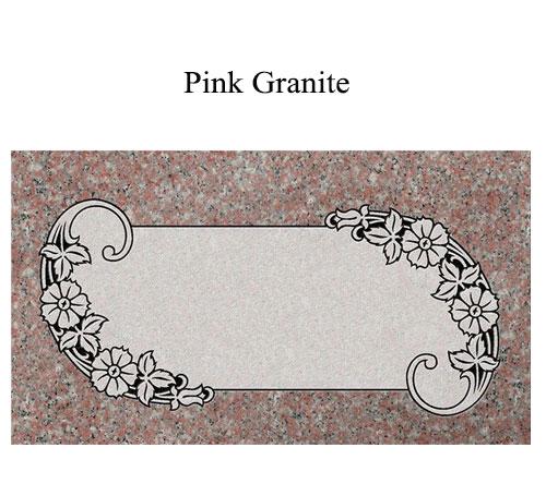 pink granite flat marker