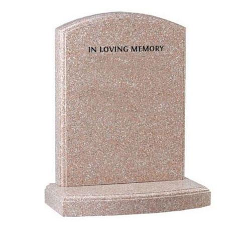 Pink Serpentine Headstone