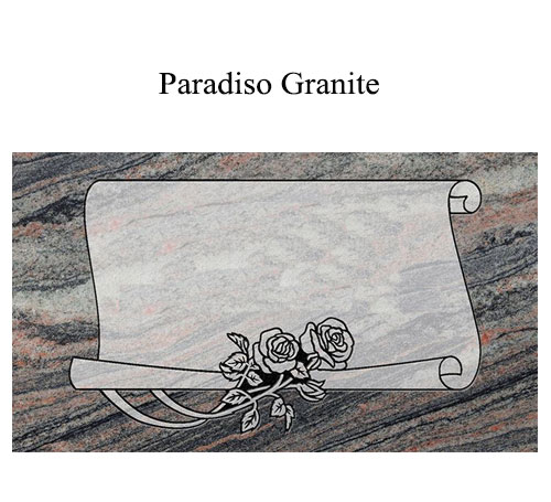 paradiso granite flat marker
