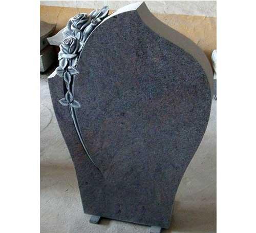 Custom Rose Carved Headstone