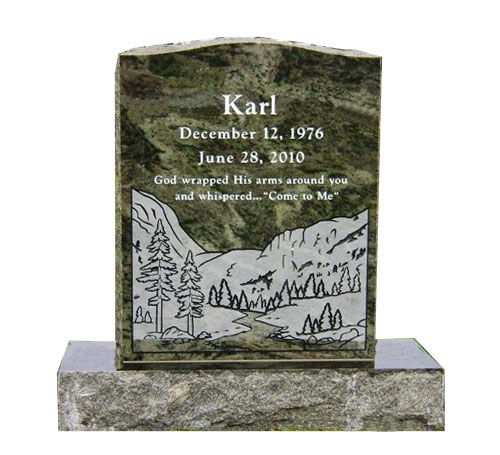 serpentine tropical green headstone