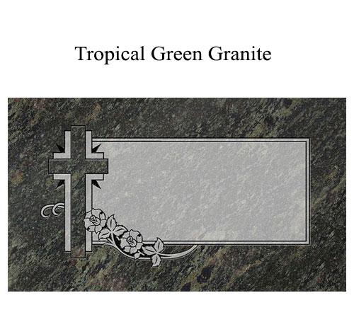 tropical green granite flat marker