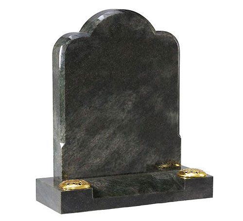 Custom Green Headstone
