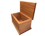 Mahogany Wood Urn Side View WU301