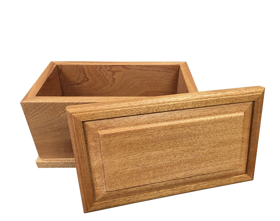 Tranquil Mahogany Wood Urn Open Lid WU303