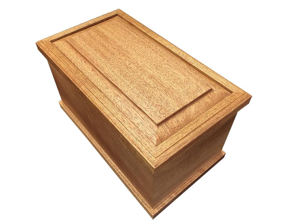 Tranquil Mahogany Wood Urn Top Lid WU303