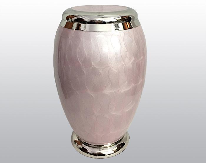 Pink Pearl Metal Urn