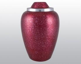 Red Plum Metal Urn