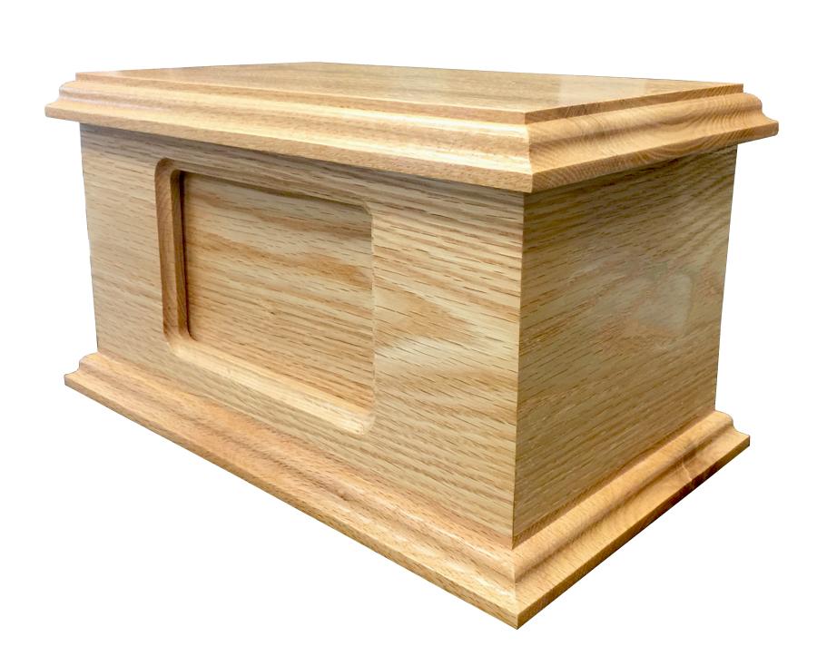 Photo Urn Oak Wood Urn WU205