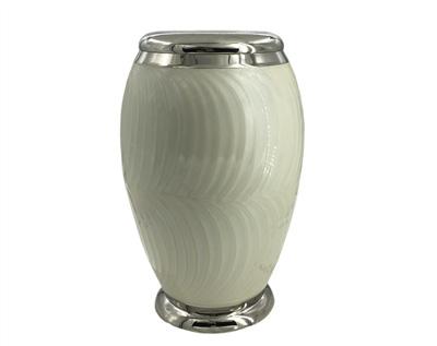 White Metal Urn mu120