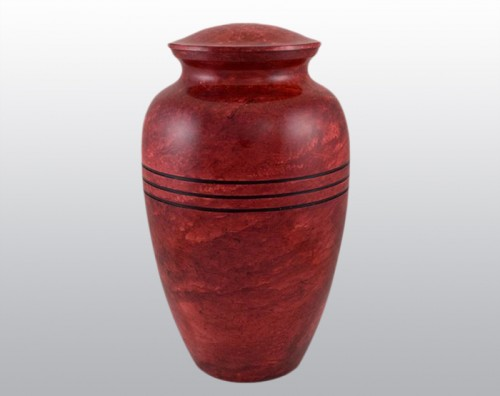 Red Ruby Urn Metal Urn