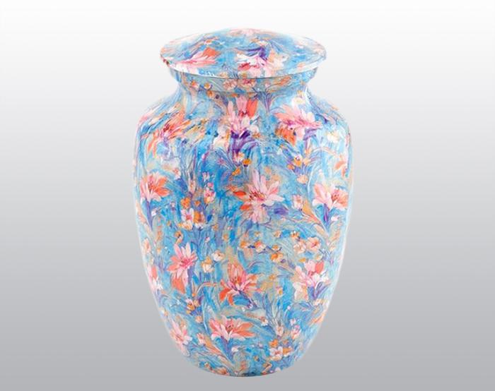 Flower Garden Metal Urn