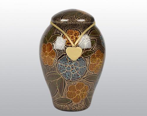 Lasting Flowers Metal Urn
