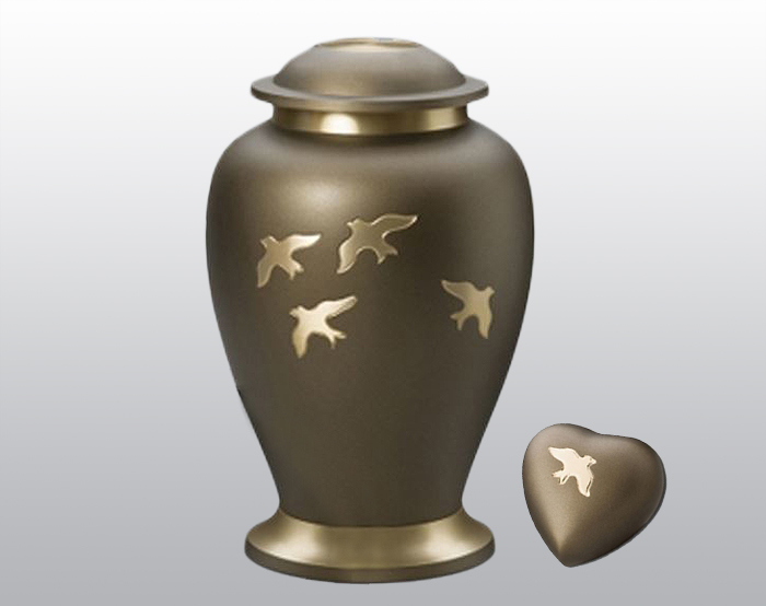 Going Home Metal Urn Set