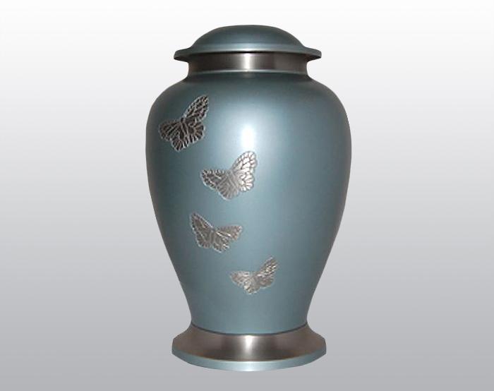 Butterfly Sky Metal Urn