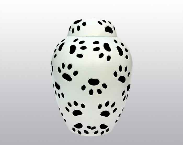 Little Paw Prints Metal Urn
