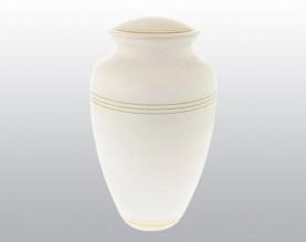 Classic White Metal Urn