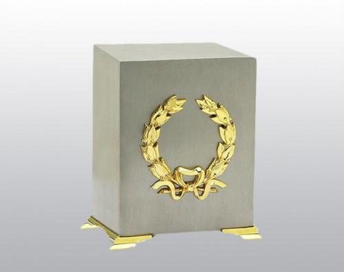 Memorial Cube Metal Urn