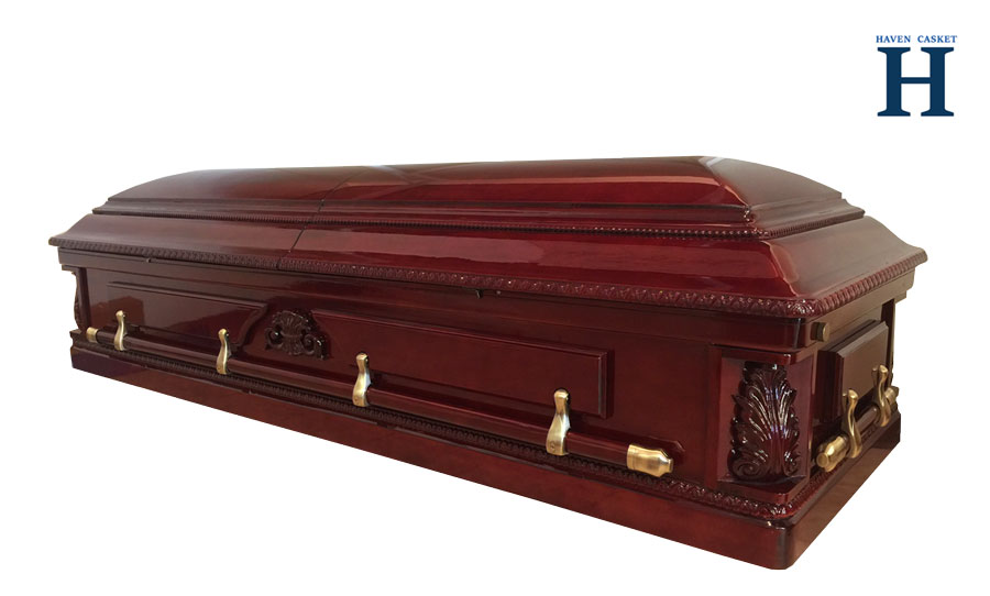Rose Arbor Cherry Casket HW226 closed casket