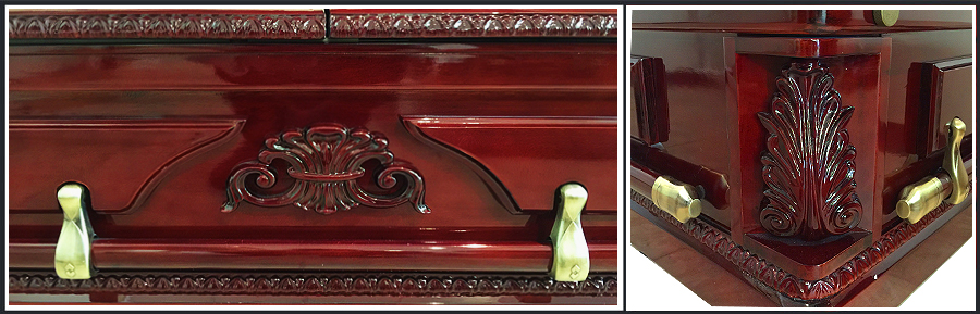 Rose Arbor Cherry Casket HW226