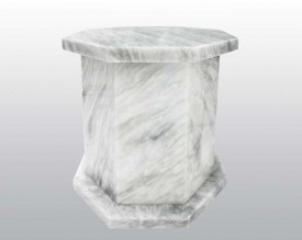 Hexagon White Marble Urn