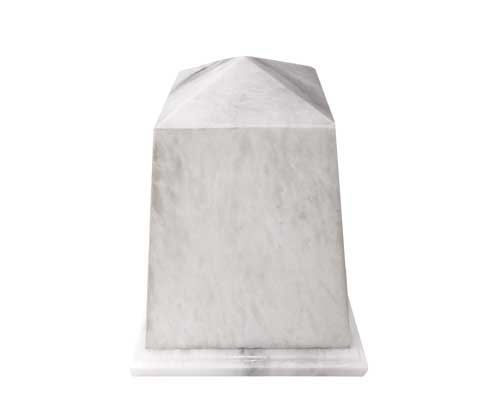 white marble urn tower