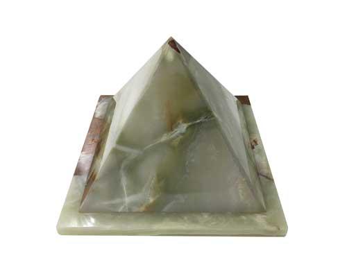 pyramid green onyx marble urn