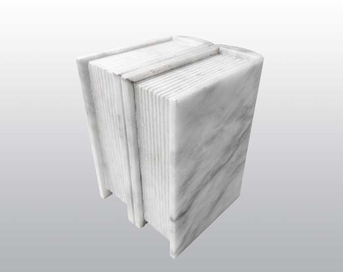 Book White Marble Urn MAU019