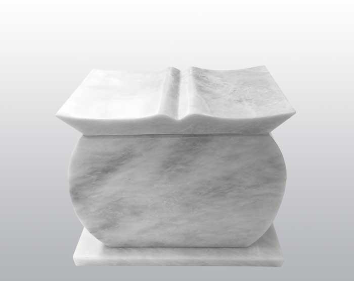 Tribute White Marble Urn MAU021