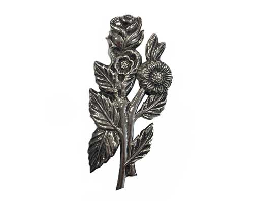 silver roses ornament