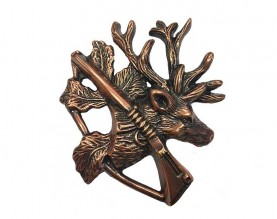 Bronze Moose Hunt Ornament UO112