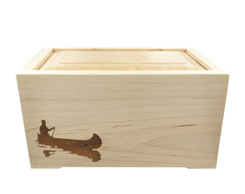 maple wood urn