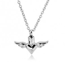 Heart with Wings Stainless Steel Jewelry CMJ106